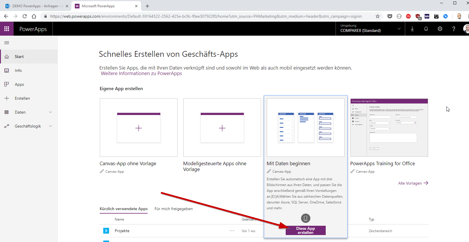 powerapps-app-erstellung-dashboard-blog