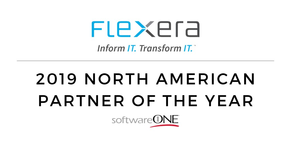 SoftwareONE has been named the Flexera North American Partner of the Year for 2019