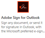 Adobe Sign for Outlook