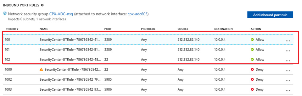 Activity Log on JIT VM Access details