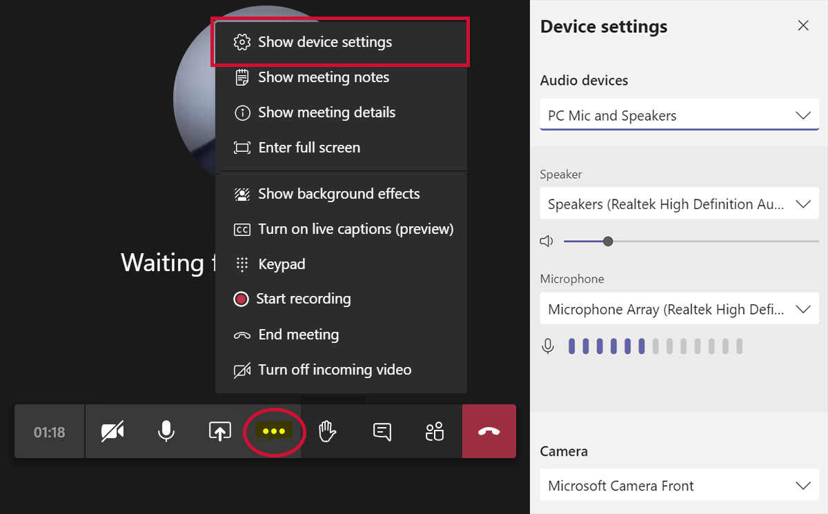 Managing Your Audio & Video Settings in Microsoft Teams