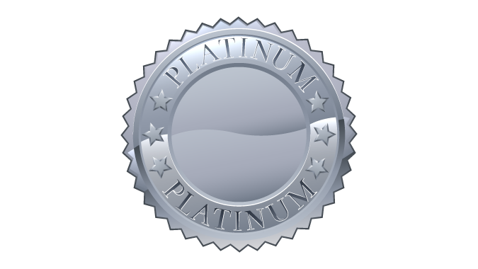 Platinum medal icon